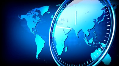 stock-footage-computer-rendered-world-map-animation-for-news-tv-channel-with-transparent-clock