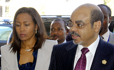 Meles Zenawi, Azeb Mesfin