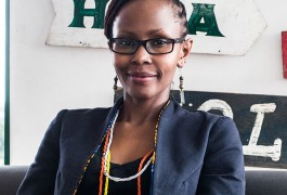 Juliana Rotich, founder of Ushahidi and trustee of iHub, poses for a photograph at the iHub technology innovation center in Nairobi, Kenya, on Thursday, July 23, 2015. XXX ADD SECOND SENTENCE XXX. Photographer: Waldo Swiegers/Bloomberg *** Local Caption *** Juliana Rotich