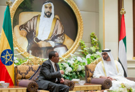 Sheikh Mohamed and the Ethiopian prime minister
