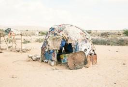 Somaliland drought_make shift home