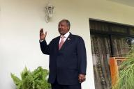 Djibouti's President Ismail Omar Guelleh arrives for a Reuters interview at his home in Ethiopia's capital Addis Ababa, January 30, 2016.   REUTERS/Edmund Blair