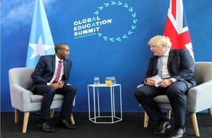 Press release: Somali PM attends Global Education Summit, meets UK Prime Minister Johnson